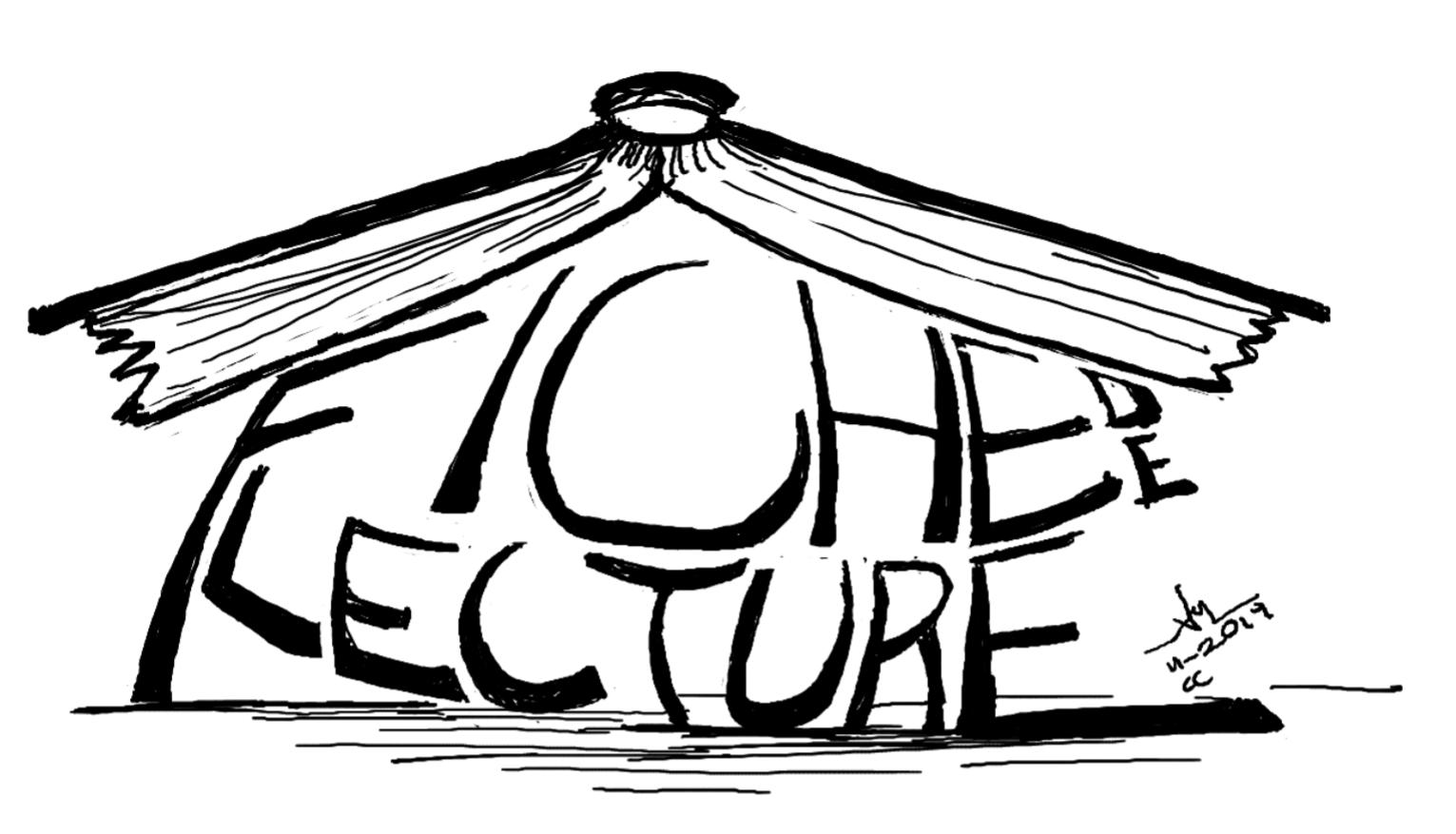 dessin d'un titre écrasé par un livre